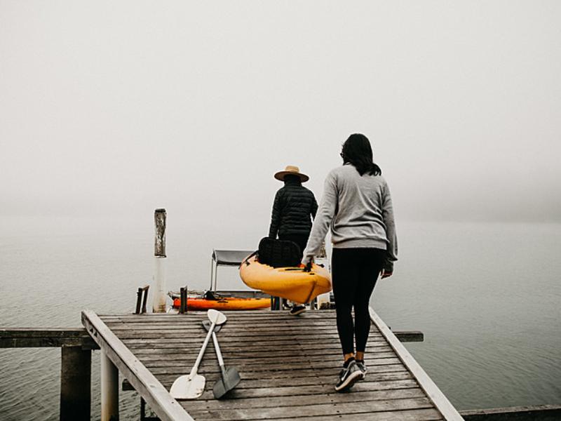 Kayaking in winter