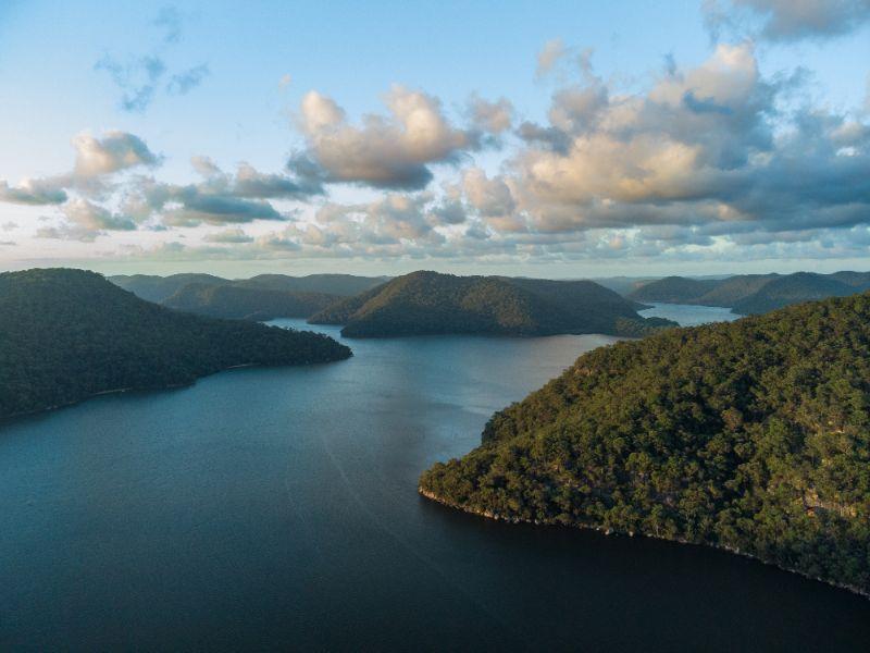 Hawkesbury River aerial views
